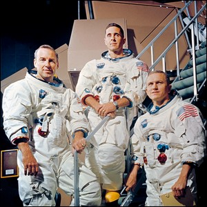 Three Astronauts standing